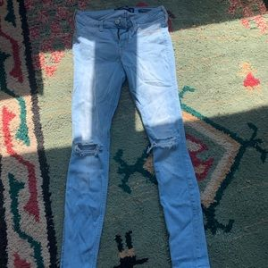 Hollister low rise ripped jeans